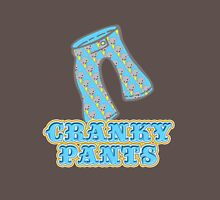 Funny Cranky Pants Design Mens V-Neck T-Shirt