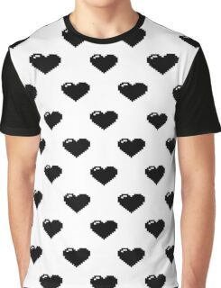 Pixel Hearts Graphic T-Shirt