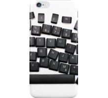 dyslexia black keyboard iPhone Case/Skin