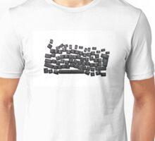dyslexia black keyboard Unisex T-Shirt