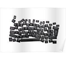 dyslexia black keyboard Poster