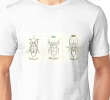Beetles of Fate Tryptich Unisex T-Shirt