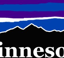 Minnesota Midnight Mountains Sticker
