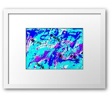 Ocean Abstract - Swimming Against the Tide Framed Print