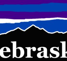 Nebraska Midnight Mountains Sticker