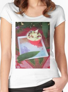 Bamboo and Cupcakes Women's Fitted Scoop T-Shirt