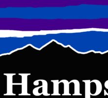 New Hampshire Midnight Mountains Sticker