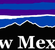 New Mexico Midnight Mountains Sticker