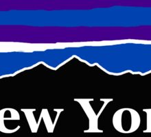 New York Midnight Mountains Sticker
