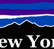 New York Midnight Mountains Sticker