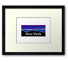 New York Midnight Mountains Framed Print