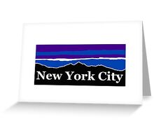 New York City Midnight Mountains Greeting Card