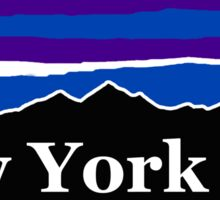New York City Midnight Mountains Sticker