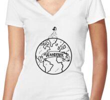 World Wanderer Women's Fitted V-Neck T-Shirt