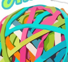 Ammo Stash Rubberband Ball Funnies Sticker