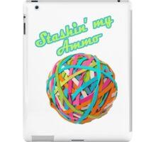 Ammo Stash Rubberband Ball Funnies iPad Case/Skin