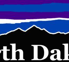 North Dakota Midnight Mountains Sticker