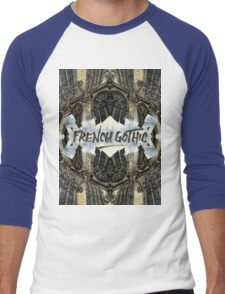 Notre-Dame Cathedral French Gothic Architecture Paris France Men's Baseball ¾ T-Shirt