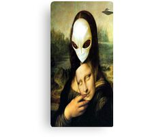 Monalisa Alien Canvas Print