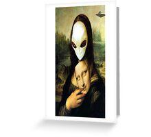 Monalisa Alien Greeting Card