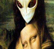 Monalisa Alien Sticker