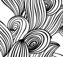 Wave black and white pattern Sticker