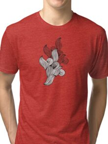 Wave black and white pattern Tri-blend T-Shirt