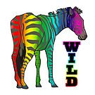 Wild Rainbow Zebra by doonidesigns
