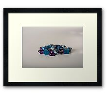 Silver Blue Purple Dice Framed Print