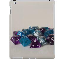 Silver Blue Purple Dice iPad Case/Skin