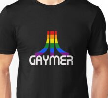 Retro Rainbow Gamer GAYmer Unisex T-Shirt