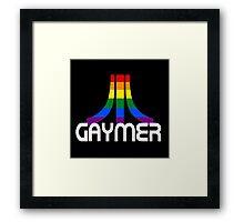 Retro Rainbow Gamer GAYmer Framed Print