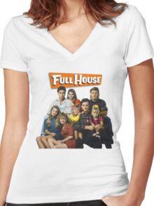 Full House Women's Fitted V-Neck T-Shirt