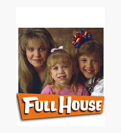DJ, Michelle and Stephanie - Full House Photographic Print