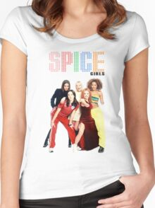 SPICE GIRLS Women's Fitted Scoop T-Shirt