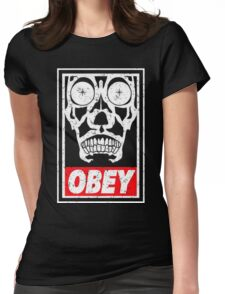 OBEY THE MASTER Womens Fitted T-Shirt