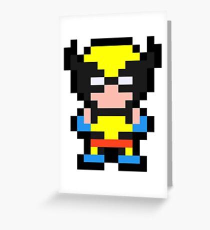 Pixel Wolverine Greeting Card