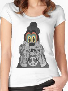 Trippy Goofy Women's Fitted Scoop T-Shirt