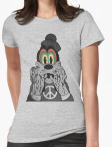 Trippy Goofy Womens Fitted T-Shirt
