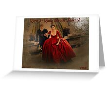 Lord & Lady Broch Tuarach oil painting Greeting Card