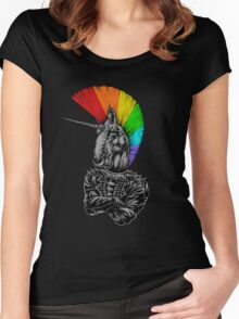unicorn are not dead Women's Fitted Scoop T-Shirt