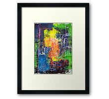 Blocks - Lines Framed Print
