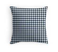 Classic Navy Blue and White Scallop Repeat Pattern Throw Pillow