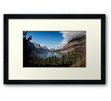 St. Mary Lake and Wild Goose Island. Framed Print