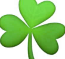 shamrock emoji Sticker