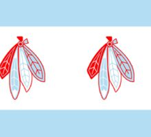 Chicago Flag- Blackhawks  Sticker