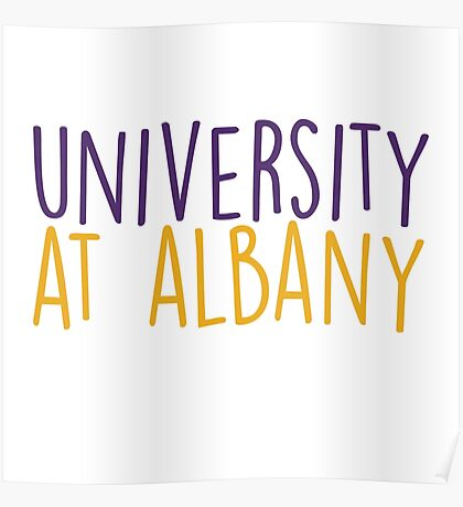 University at Albany - HANDWRITTEN Poster