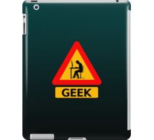 Funny Geek Sign iPad Case/Skin