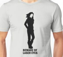 Warning: Laser Eyes Unisex T-Shirt