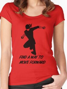 Find a Way to Move Forward Women's Fitted Scoop T-Shirt